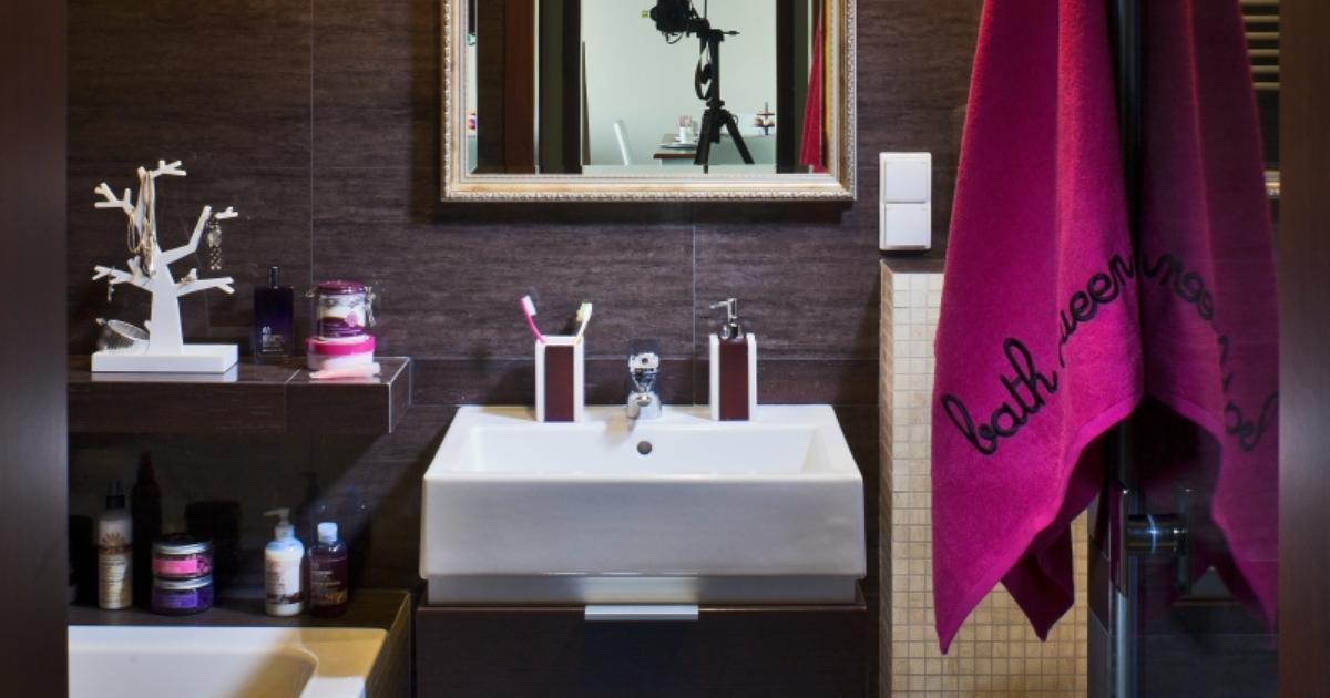Brązowa Mała łazienka Ciemny Wystrój Wnętrz Strona 2