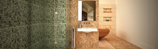 Niepowtarzalna mozaika we wnętrzu łazienki
