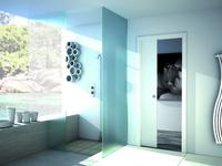 Eclisse kaseta pojedyncza. Rozwiązania do małej łazienki. Drzwi przesuwne
