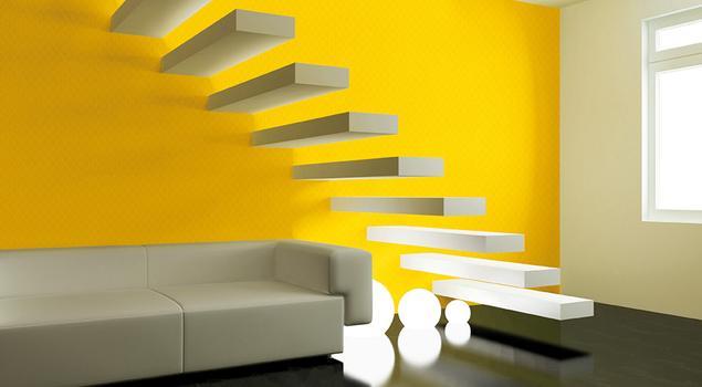 Dekoracje ścienne - ściana przy schodach