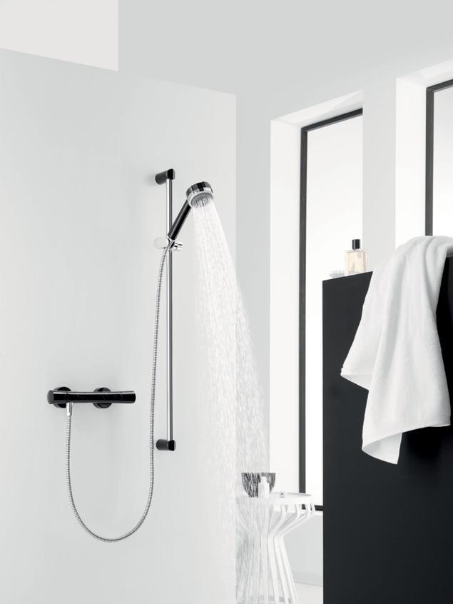 Wnętrze indywidualne – łazienka black & white
