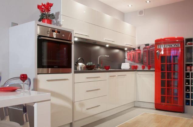 Zobacz galerię zdjęć Białe meble kuchenne Wystrój wnętrz nowoczesnych  Stro   -> Mala Kuchnia Retro